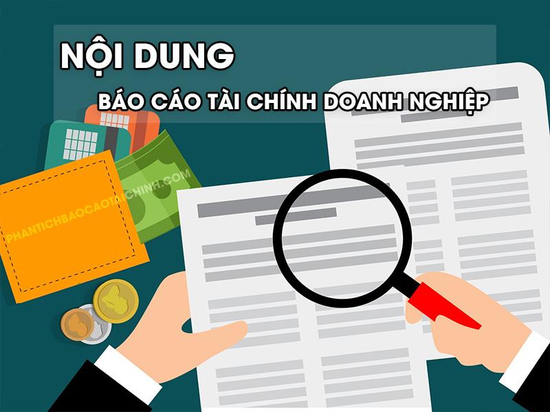 Nội dung báo cáo tài chính